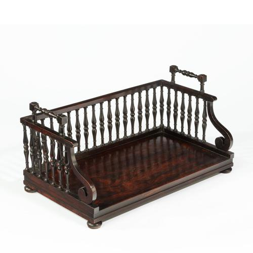 Regency rosewood book tray attributed to Gillows (1 of 7)