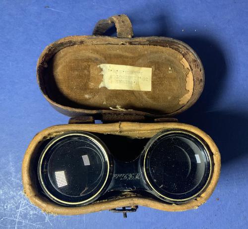Victorian Brass Binoculars with original leather case (1 of 19)