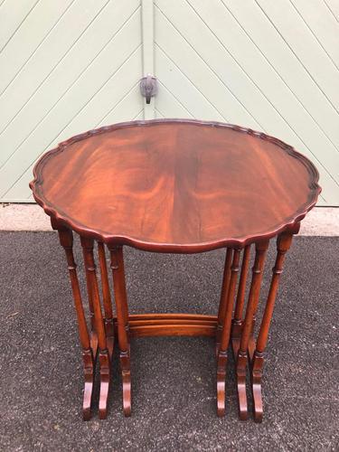 Antique Mahogany Nest 3 Tables (1 of 10)