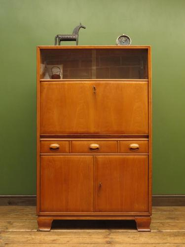 Vintage German School Cabinet with Fall Front, Mid Century Cabinet (1 of 16)