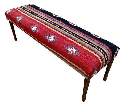 Kilim Covered Bench Stool (1 of 8)