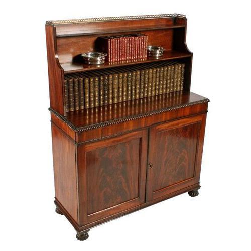 Regency Mahogany Cabinet Bookcase (1 of 8)