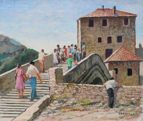 Figures on a Spanish Bridge by Thomas Pote (1 of 6)