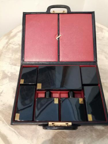 Gents Art Deco Leather Suitcase & Dressing Case (1 of 13)