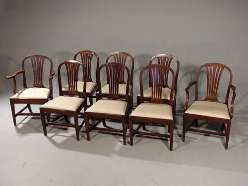 Good Set of 8 George III Period Hooped Backed Dining Chairs (1 of 5)