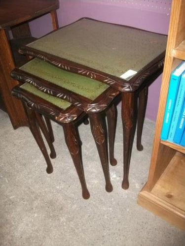 Nest of Three Reproduction Occasional Tables (1 of 2)
