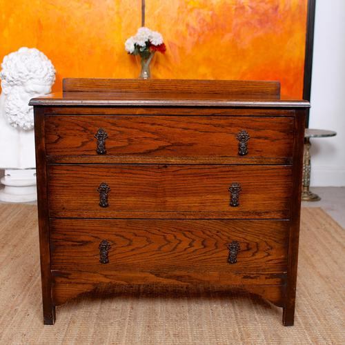 Oak Chest of Drawers Solid Wild Oak c.1920 (1 of 13)