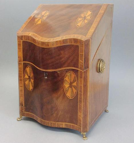 19th Century Inlaid Knife Box (1 of 4)