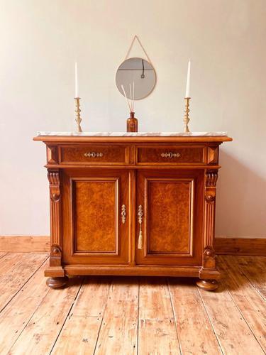 Antique Sideboard / Burr Walnut Sideboard / Walnut Cupboard (1 of 10)