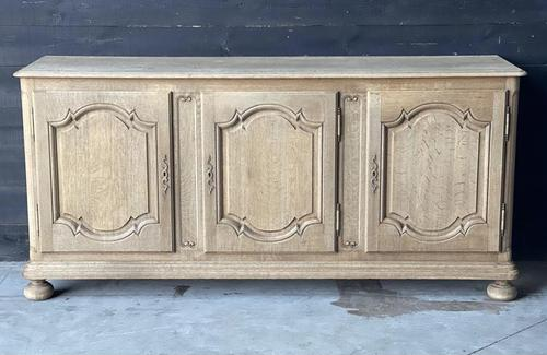 Large French Bleached Oak Enfilade or Sideboard (1 of 19)