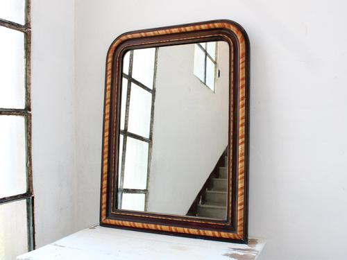 19th Century Louis Philippe Faux Grained Mirror (1 of 6)