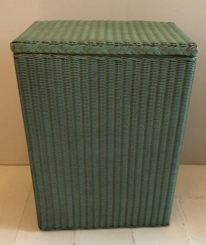 Original Green Lloyd Loom Laundry Basket (1 of 6)
