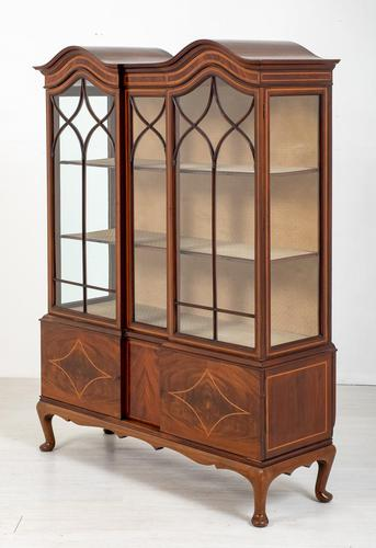 Quality Sheraton Revival Mahogany Display Cabinet (1 of 9)