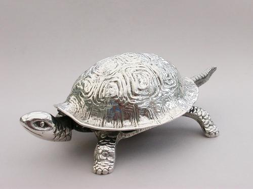 Edwardian Novelty Silver Mounted Tortoise Desk Bell, By Grey & Co, Chester, 1909 (1 of 10)