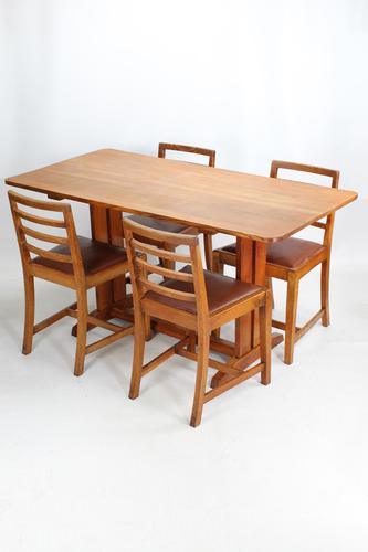 Oak Refectory Dining Table & 4 Chairs Manner of Heals (1 of 13)