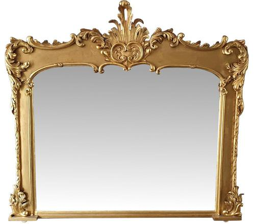 Early 19th Century Carved Timber Giltwood Overmantle Mirror (1 of 3)