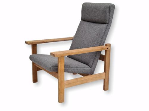 Danish Design by H.J.Wegner, GE 163a, Armchair, Oak, 70s, Furniture Wool, Renovated (1 of 9)