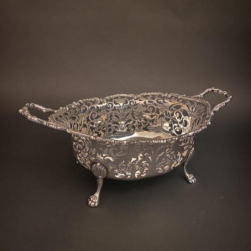 Silver Mappin & Webb Victorian Twin Handled Basket (1 of 4)