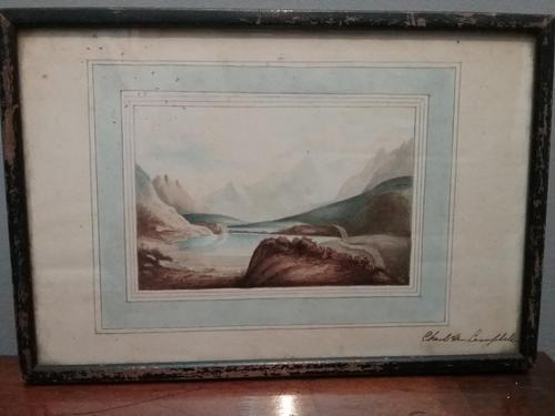 Watercolour in washline mount (1 of 3)
