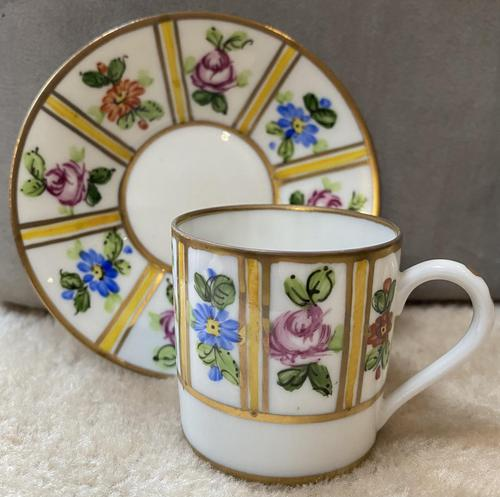 Limoges Coffee Cup & Saucer (1 of 3)