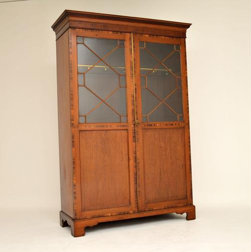 Antique  Inlaid Mahogany Wardrobe (1 of 12)