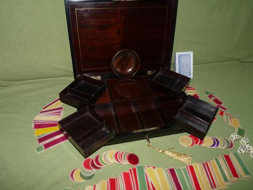 Fine Quality French Inlaid Games Box c.1860 (1 of 10)