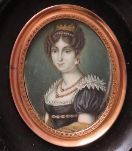 Miniature Portrait Josephine 1st Wife of Napoleon (1 of 6)