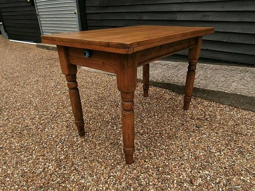 Lovely 19th century pine small farmhouse style kitchen dining table (1 of 12)