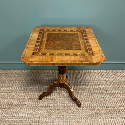 Stunning Victorian Walnut Antique Sorrento Table (1 of 8)