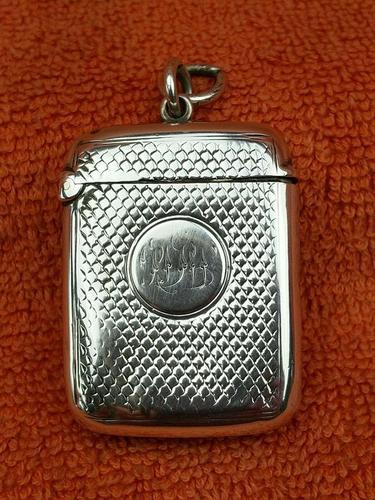 Antique Sterling Silver Hallmarked Vesta Case (1 of 12)
