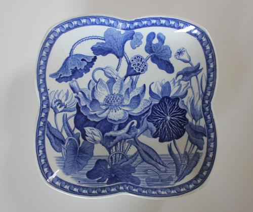 Antique Wedgwood Water Lily Quatrefoil Dish c.1810 (1 of 6)