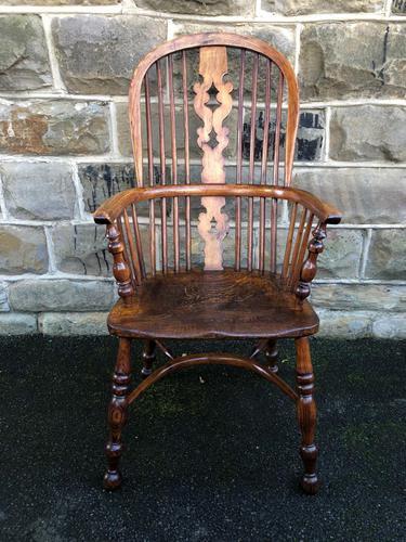 Antique Ash & Elm Windsor Armchair (1 of 10)