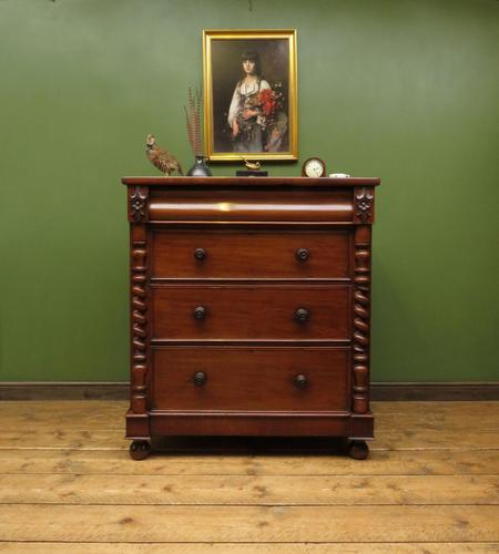 Antique Late 19th Century Mahogany Chest of Drawers, Country House Chest (1 of 15)