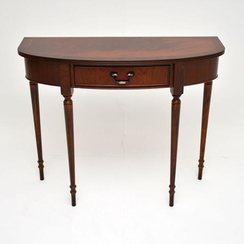 Georgian Style Inlaid Mahogany Console Table (1 of 8)