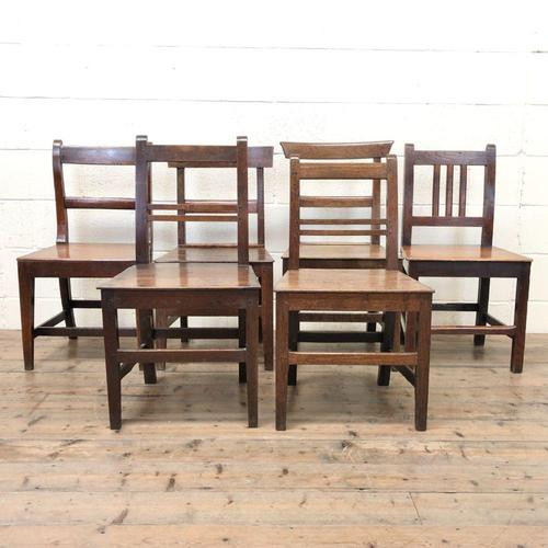 Selection of Six 19th Century Welsh Oak Farmhouse Kitchen Chairs (1 of 10)