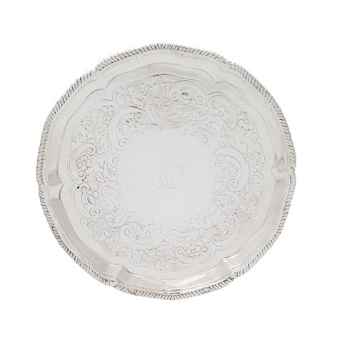 """Antique Georgian Sterling Silver 7"""" Tray / Salver 1773 (1 of 7)"""