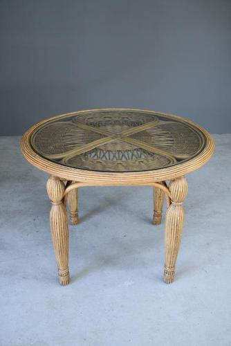 Round Cane Dining Table (1 of 12)