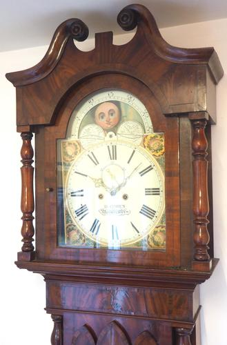 Fine English Longcase Clock D Cowed Manchester 8-day Striking Grandfather Clock Solid Mahogany Case (1 of 19)