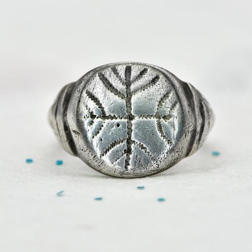 The Ancient Medieval Jewish Menorah Cross Ring (1 of 5)