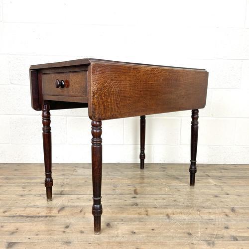 Antique 19th Century Welsh Oak Pembroke Table (1 of 10)
