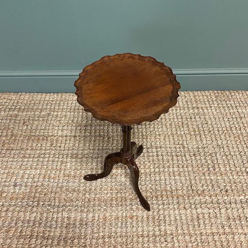 Edwardian Antique Walnut Pie Crust Edge Occasional Table (1 of 6)