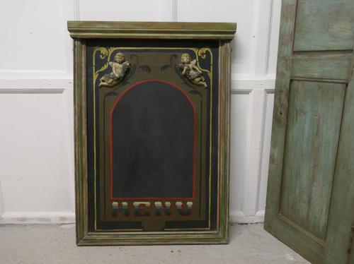 Decorative Bacchanalian Wine Bar Menu, Black Board (1 of 4)