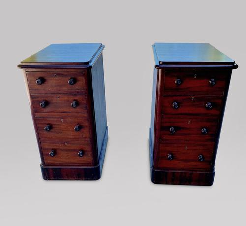 Pair of Four Drawer Bedside Pedestal Tables (1 of 3)