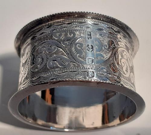 Victorian Silver Napkin Ring, Hallmarked 1896 (1 of 2)