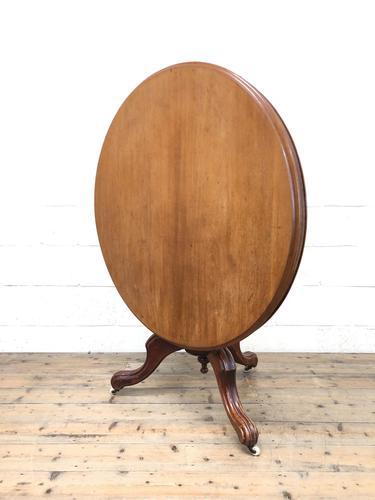 Victorian Mahogany Circular Snap Top Table (1 of 10)