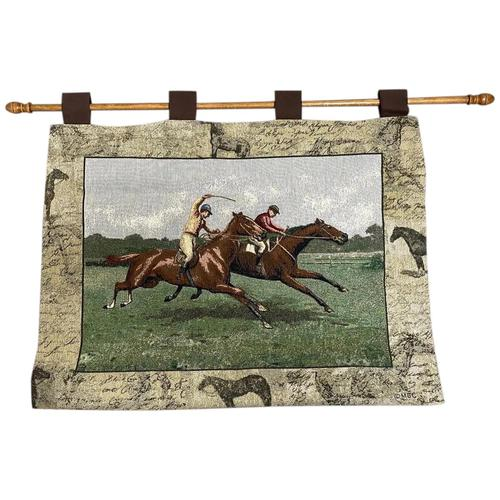 Sporting Wall Tapestry Scottish Horse Trainers Racing Glenrothes Scotland Signed (1 of 27)