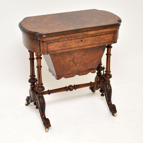 Antique Victorian Burr Walnut Games & Work Table (1 of 14)