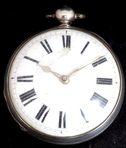 Antique ChrAntique Silver Open Case Pocket Watch Fusee Verge Escapement Key Wind F Hiahams Canterburyonograph Pocket Watch Sweeping Stop Start Seconds Hand Swiss Made Key Wind. (1 of 12)