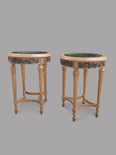 A Pair of Maitland Smith (philippines) French Style Circular Glass Topped Tables (1 of 4)