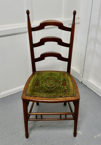 19th Century Chair with Original Carpet Seat by John Hodder (1 of 7)